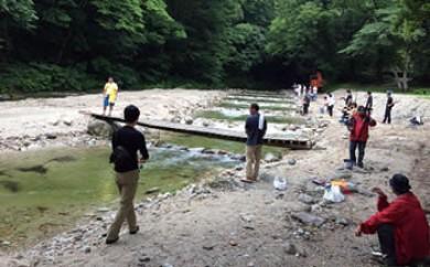 <三依渓流つり場>渓流つり体験ファミリーチケット