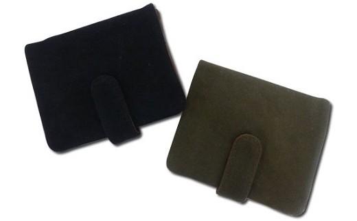 027-035 帆布2つボタン財布 ブラック