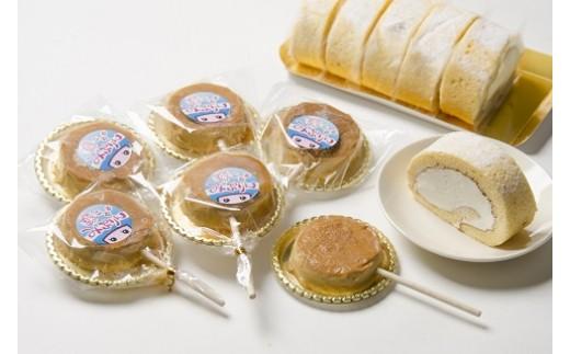 みりん粕のロールケーキと凍るみぷりん