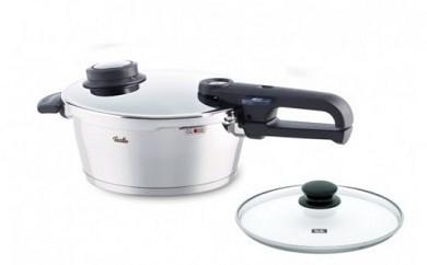 フィスラー プレミアムプラス3.5L+ガラスフタ付 圧力鍋(なべ)