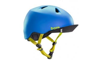 (S-M 4歳~6歳)BERNのジュニア、キッズ用ヘルメット BOYS BLUE