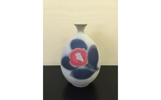 H386焼締紅椿花瓶