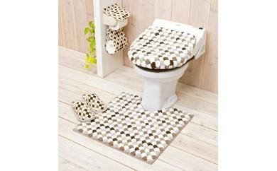 トイレ5点セット 洗浄暖房用 【ロンド】ブラウン