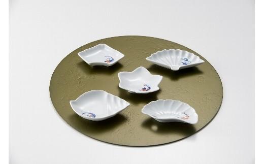 H362変型小皿五種絵変わり