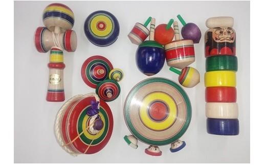 027-046 独楽・木地玩具セット