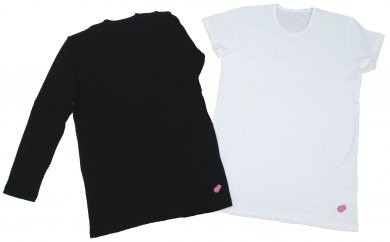 amami aina ヨガ メンズ 半袖Tシャツ(ホワイト)M 長袖Tシャツ(ブラック)M 2点セット