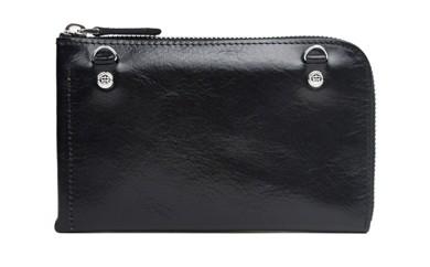 イタリアヌメ革L字財布(ブラック)