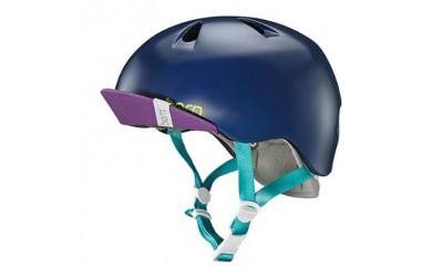 (S-M 4歳~6歳)BERNのジュニア、キッズ用ヘルメット GIRS NAVY