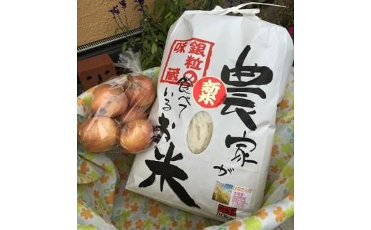 1-27 お米10kg「ななつぼし」と季節のお野菜
