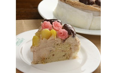 有機豆乳のモンブランシフォンケーキ (5号サイズホール)