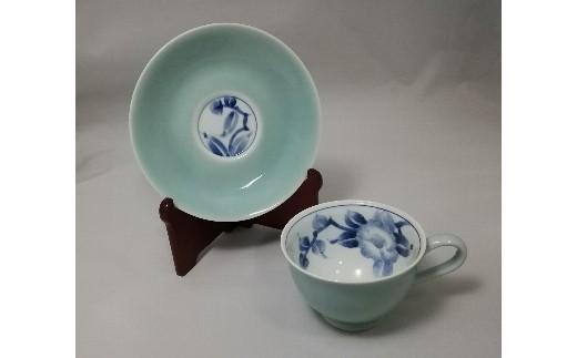 H392カメリアコーヒー碗皿
