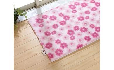 エンジェルステップバスマット花柄ピンク