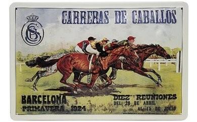 馬のメタルポスター BARCELONAバルセロナ