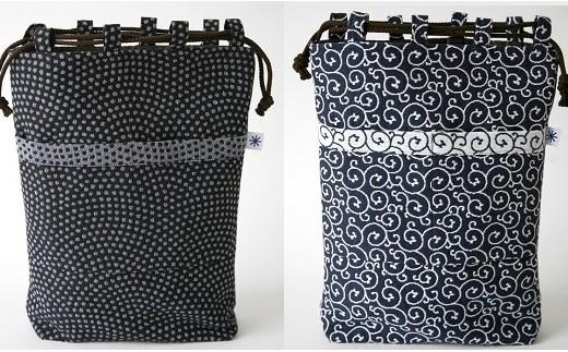 027-049 米織小紋 信玄袋