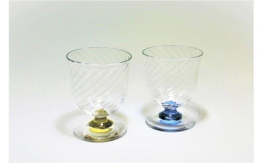 1-73 スウェーデンガラスセット「スパイラル」