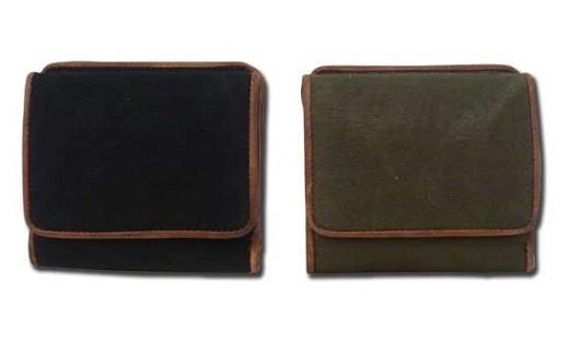 027-034 帆布BOX小銭入れ付財布 ブラック