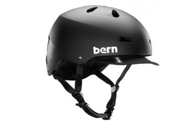 (サイズ:L)BERN 自転車用(クロスバイク、マウンテンバイク、BMX)ヘルメット MACON VISOR BLACK