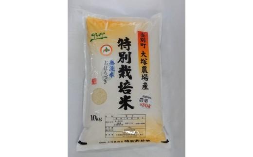 1-78 特別栽培米 「おぼろづき(無洗米 )」10kg