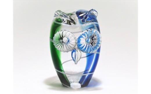 2-6 スウェーデンガラス「フクロウの置物」