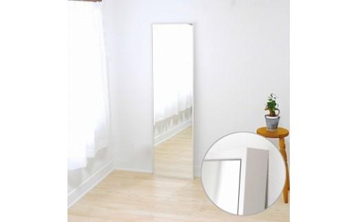 無垢材木枠インテリアミラー(ホワイト)②