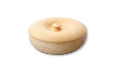 <限定>美しい木目のふた付菓子器(径18cm)