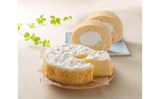 RK8 高原安瀬平乳業のチーズケーキ&ロールケーキセット【1P】
