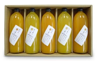 旬の柑橘 贅沢しぼりジュースの詰め合わせ 5本セット