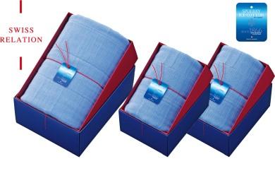 スイスリレーション シャリ感ガーゼタオル(バスタオル×1、フェイスタオル×2)スポエリーアイスコットン使用