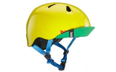 (S-M 4歳~6歳)BERNのジュニア、キッズ用ヘルメット BOYS YELLOW