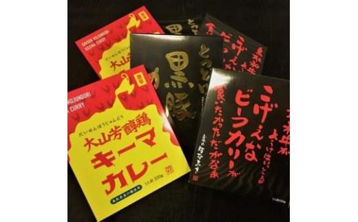 136 はなふさの鳥取県産肉カレーセット(牛・豚・鶏)