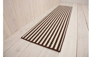 キッチンマット 45×180cm 【ウーナ】ブラウン