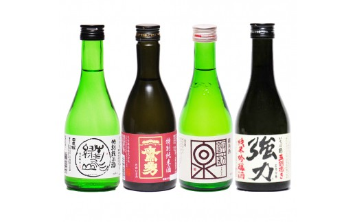 183 鳥取県の日本酒 4銘柄 飲み比べセット 300ml