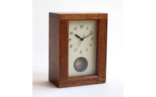C40 REクロック(置き時計) ナラ 拭き漆