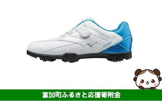 【30023】ミズノ ライトスタイル002 ゴルフシューズ メンズ ボア 【ホワイト/ブルー】