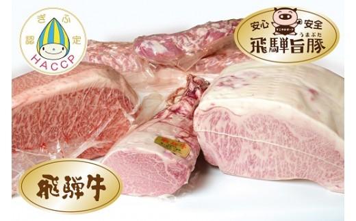 E02 飛騨の特産品 飛騨牛・飛騨旨豚の豪快ブロックセット