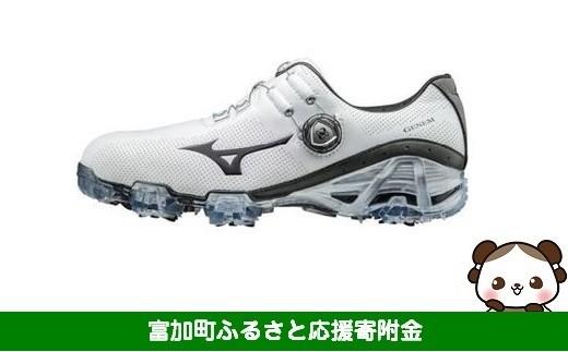 【55001】ミズノ ジェネム007 ボア ゴルフシューズ メンズ 【ホワイト/グレー】