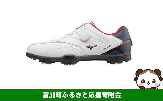 【30024】ミズノ ライトスタイル002 ゴルフシューズ メンズ ボア 【ホワイト/ネイビー】
