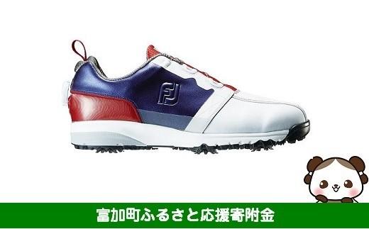 【40025】フットジョイ ゴルフシューズ メンズ ウルトラフィットボア 【ホワイト/ネイビー/レッド】