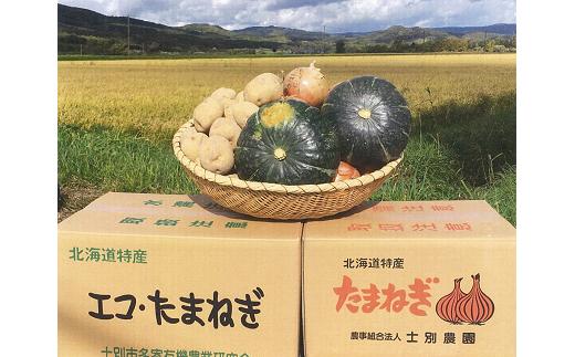 B106 野菜詰め合わせ【20kg詰め合わせ(じゃがいも8kg、玉ねぎ7kg、かぼちゃ2~2.5kg)】