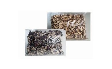 【お徳用】 乾燥椎茸スライス&乾燥キクラゲホール 各500g