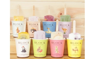 BLOCK natural ice cream 24本セット