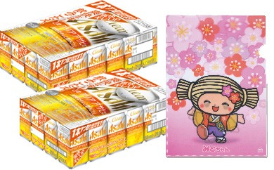 ◆みとちゃん応援ビール【クリアアサヒ】350ml缶24本入り(2ケース)+みとちゃんスペシャルホログラムファイル