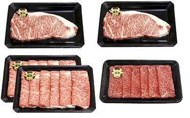 【5等級】鹿児島黒牛サーロインステーキ(2枚)・すきやきセット(4~5人前)