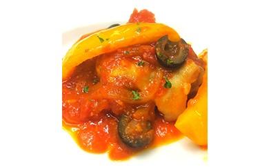 ◆若鶏のトマト煮込みローマ風