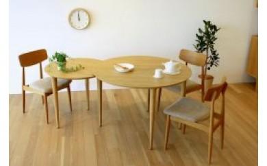 バルーンダイニングテーブル[単品] ホワイトオーク