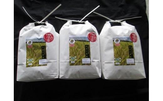 B101 いすみのエコ米ふさこがね(ちばエコ認証米)白米5㎏×3個  平成29年産