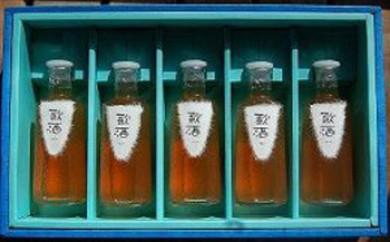 日本酒で作ったこだわりの梅酒 180ml×5本入り