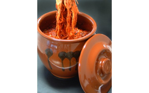 C0103 焼肉冷麺ヤマト 焼肉屋さんの手作り壺付き特選キムチ800g