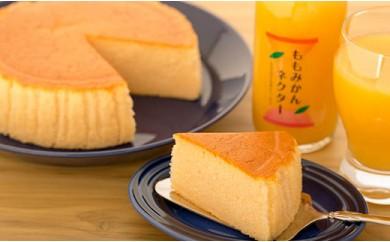 ももみかんネクターと桃のチーズケーキセット