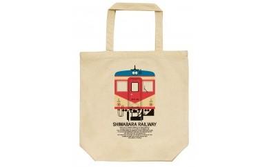 島鉄(しまてつ)赤パンツ車両トートバッグ(キハ20形)